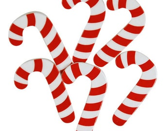 BUTTONS Extra Large CANDY CANES set of 6