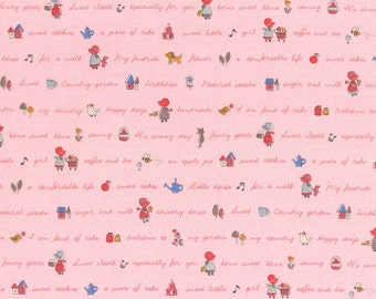 Clearance FABRIC HOLLY HOBBY Little Heroines Collection Lecien  1/2 Yard