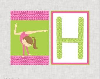 INSTANT DOWNLOAD Gymnastics Happy Birthday Banner - Printable Birthday Banner - Girls Birthday - Gymnastics Party