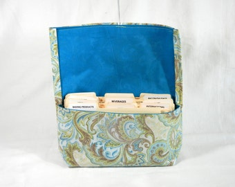 Coupon Holder  Purse Organizer Handmade in Paisley Fabric