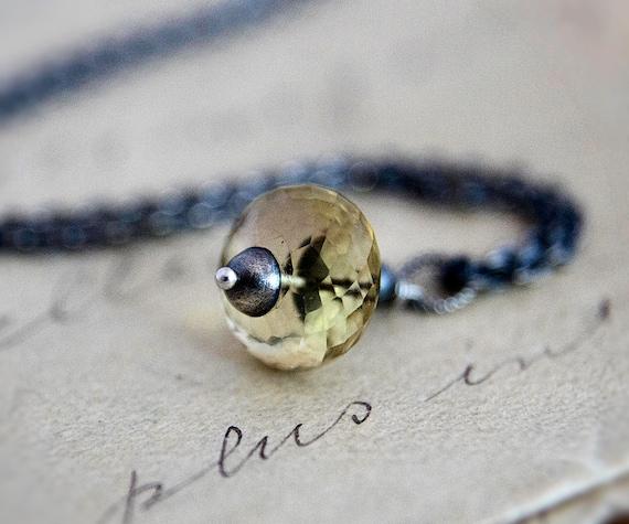 Citrine Necklace Champagne Quartz Necklace Pendant Fall Fashion PoleStar