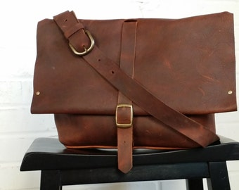 In Blue Handmade - leather messenger bag - Men's Satchel - Leather Crossbody Bag