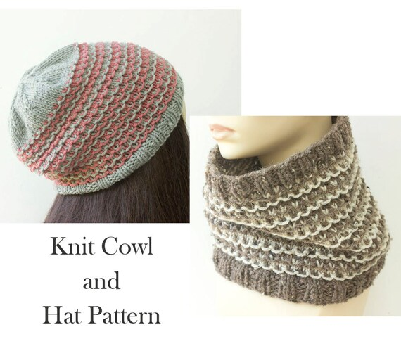 Easy Mosaic Knitting Pattern Two Knitting Patterns Hat