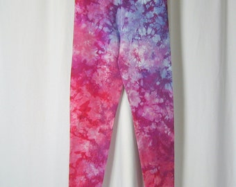 Monet Leggings in Scarlet, Amethyst, and Bright Sky Blue (extra large)