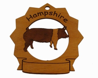 Hampshire Hog Standing Personalized Farm Ornament