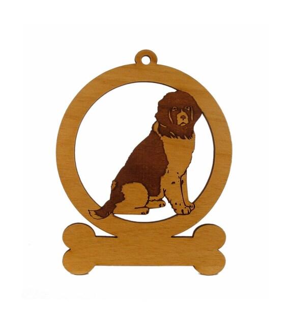 Newfoundland Sitting 083597 Personalized Wood Ornament