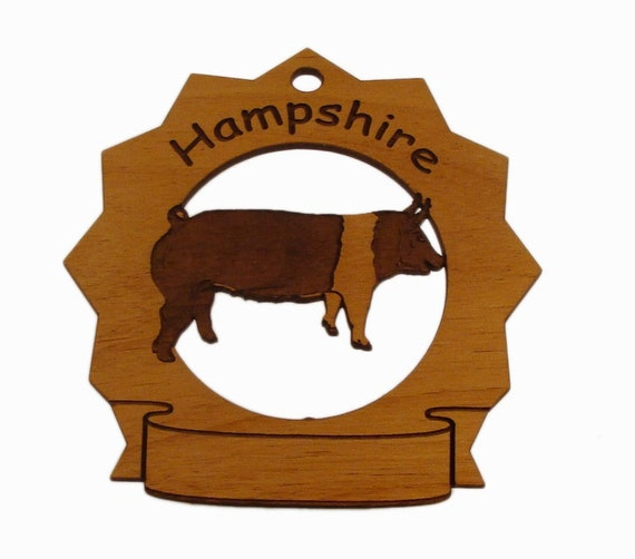 Hampshire Hog Standing Personalized Farm Ornament