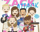 The Zack Attack - 12.5 X 12.5 PRINT