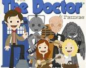Come Along With The Doctor & Friends - 12.5 X 12.5 PRINT