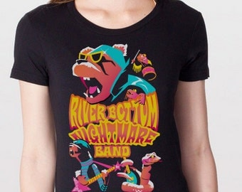 River Bottom Nightmare Band Womens Fitted Tee Shirt