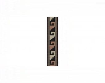 NA Rug 12 Cuff Bracelet - Loom or 4 Drop Even Peyote Bead Pattern