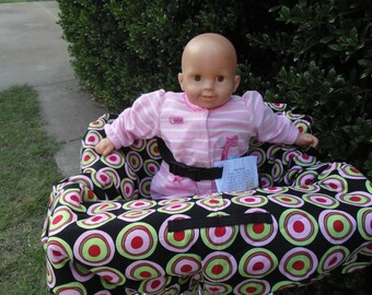 Retro (red/pink/black)  baby shopping cart cover/ high chair cover
