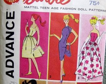 1961 Barbie Doll Pattern Advance Mattel Group A