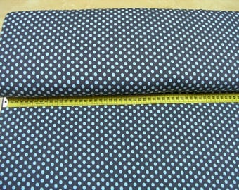 Dots • turquoise on gray • Cotton Jersey Knit Fabric 002022