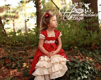Petticoat and Pinafore PDF Pattern Set, Sizes 6 months through size 8 with room to grow