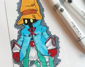 RESERVED FOR TRACY - 4x6 Vivi Final Fantasy Sketch Card - Original Drawing