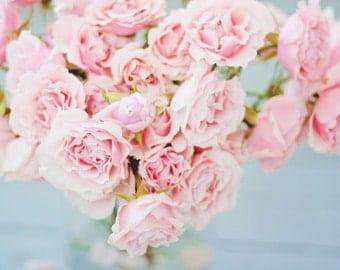 Fine Art Photography / Flower Photography / Rose Photo / Pink / Feminine Art / Dreamy Photo  / Girls Room / Babys Room / Choose Your Size