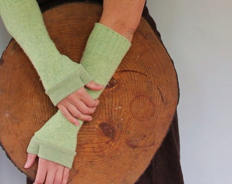 Women's Custom Wrist Warmers - One Size TURNSTONES  - Wool, Cashmere or Wool Blend