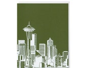Seattle Evergreen Blank Card
