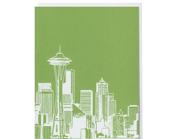 Seattle -- Apple Green Blank Card
