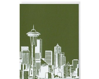 Seattle Evergreen Blank Card