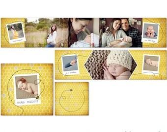3x3 Mini Accordion Album - WHCC - Photoshop Templates for Photographers - AM0001