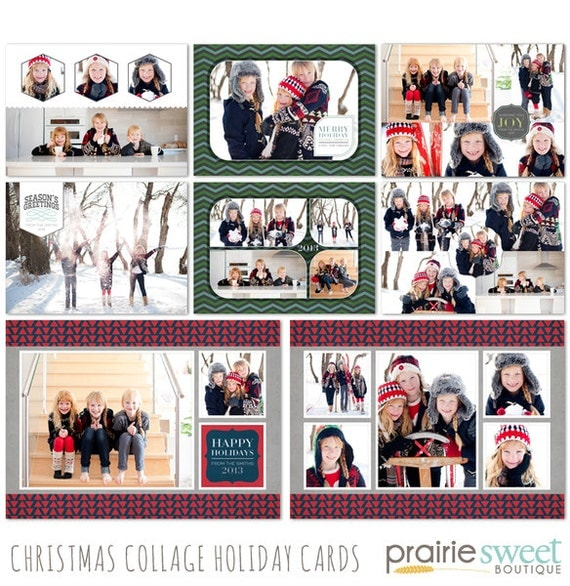 christmas collage holiday card collection photoshop. Black Bedroom Furniture Sets. Home Design Ideas