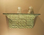 18 Inch - Shabby Salvaged Tin Ceiling SHELF/Mantle Wall Mount Chic Recycled S1426-13