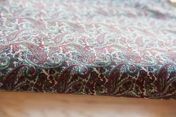 Amazing Paisley Vintage Fabric Novelty Corduroy Classic