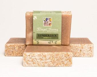 Lumberjack Soap Bar. Natural/ Handmade/ Artisan. Generous 4.5 oz Vegan Bar. Made with Rainwater & Pure Essential Oils.