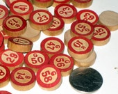 Lot of 100  Vintage Bingo Numbers  for Altered Art, Crafts, Collage, etc.