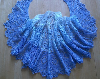 Three Quarter Time Lace Knit Shawl Pattern