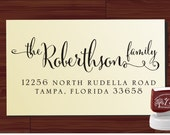 Custom Name Stamp Personalized Stamper Colored Self Inking Calligraphy Font Family Envelope Wedding Invitations Your Name Stationery Stamp