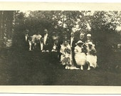 Antique Photo Victorian Wedding In Country Bride Groom And Wedding Party Vintage Photograph