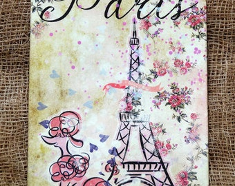 French Paris Eiffel Tower Poodle Tags #381