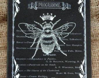 French Black Queen Bee Tags #614