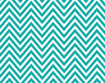 """Small Chevron Aqua Contact Paper/Shelf Liner - 18"""" x 6'"""