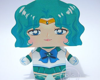 Sailor Neptune Printable Paper Craft PDF