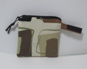 Coin purse - with tab pouch - Zip Pouch - Gift