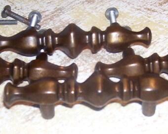 Antique Brass Handles Spindle Pulls Vintage Hardware Door Drawer Cabinet
