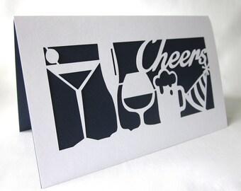 Cheers Paper-cut Card
