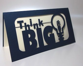 Think Big Paper-cut Card
