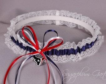Houston Texans Lace Wedding Garter
