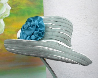 SUN Hat--SUMMER Hat--RIBBON Hat---light green color