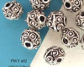 Pewter Beads Mini Bali Style Little Circles Antiqued Silver (PWT 492) blueecho 15 pcs