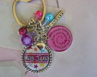 Personalized Teachers Keychain, end of year gift