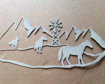 Metal Art Horses Metal Wall Art (F2)