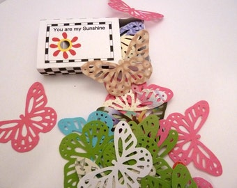 Matchbox You are my Sunshine with 25 Cutout Butterflies - Item 1194