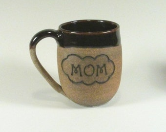 Ceramic Mug - Coffee mug - Mom Mug - Handmade ceramic mug - Wheel Thrown - Stoneware  mug -Pottery mug - Secret Santa gift