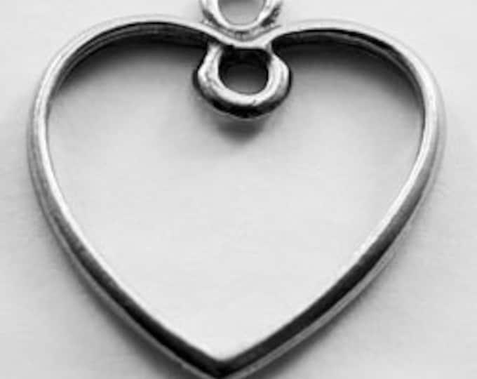 2 x Open Heart- 2 bails, Australian pewter.    H56